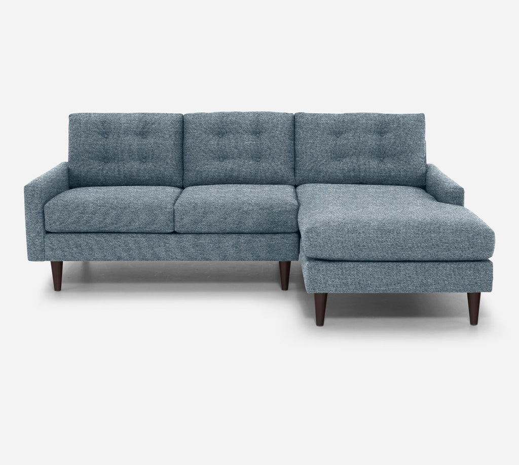 Taylor Sectional Apartment Sofa w/ RAF Chaise - Stardust - Lapis