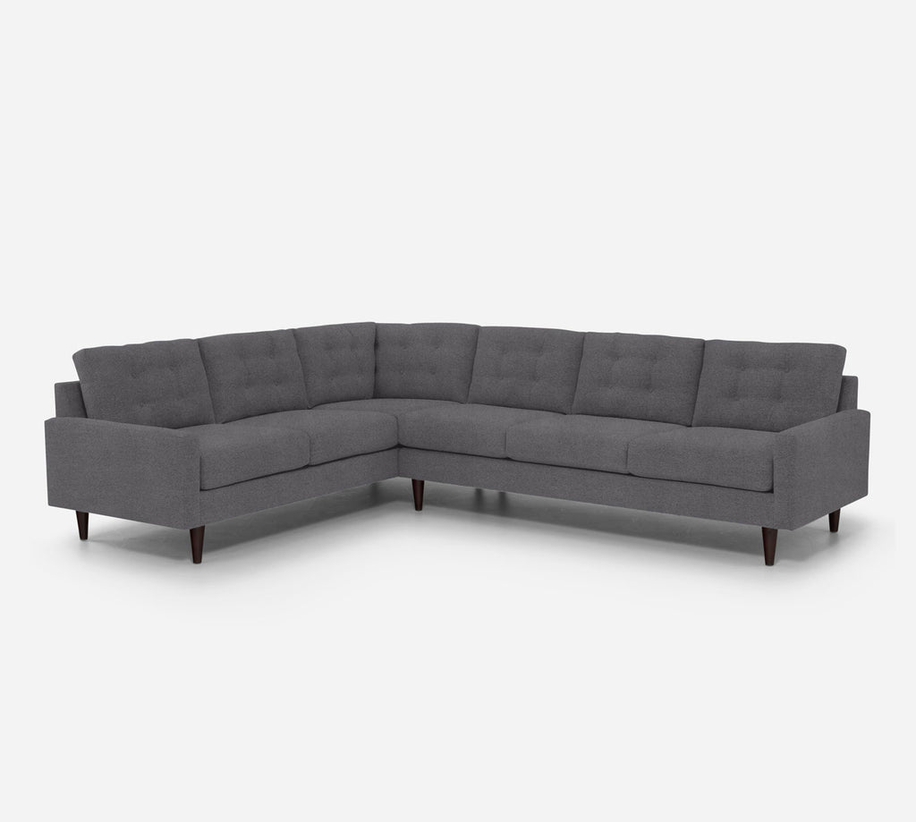 Taylor RAF Large Corner Sectional - Passion Suede - Charcoal