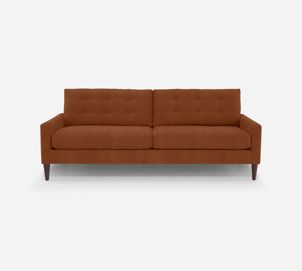 Taylor 2 Seat Sofa - Passion Suede - Rust