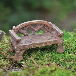 Miniature Woodland Rustic Bench