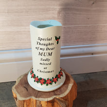 Load image into Gallery viewer, Memorial Poinsettia Candle with Tealight Holder