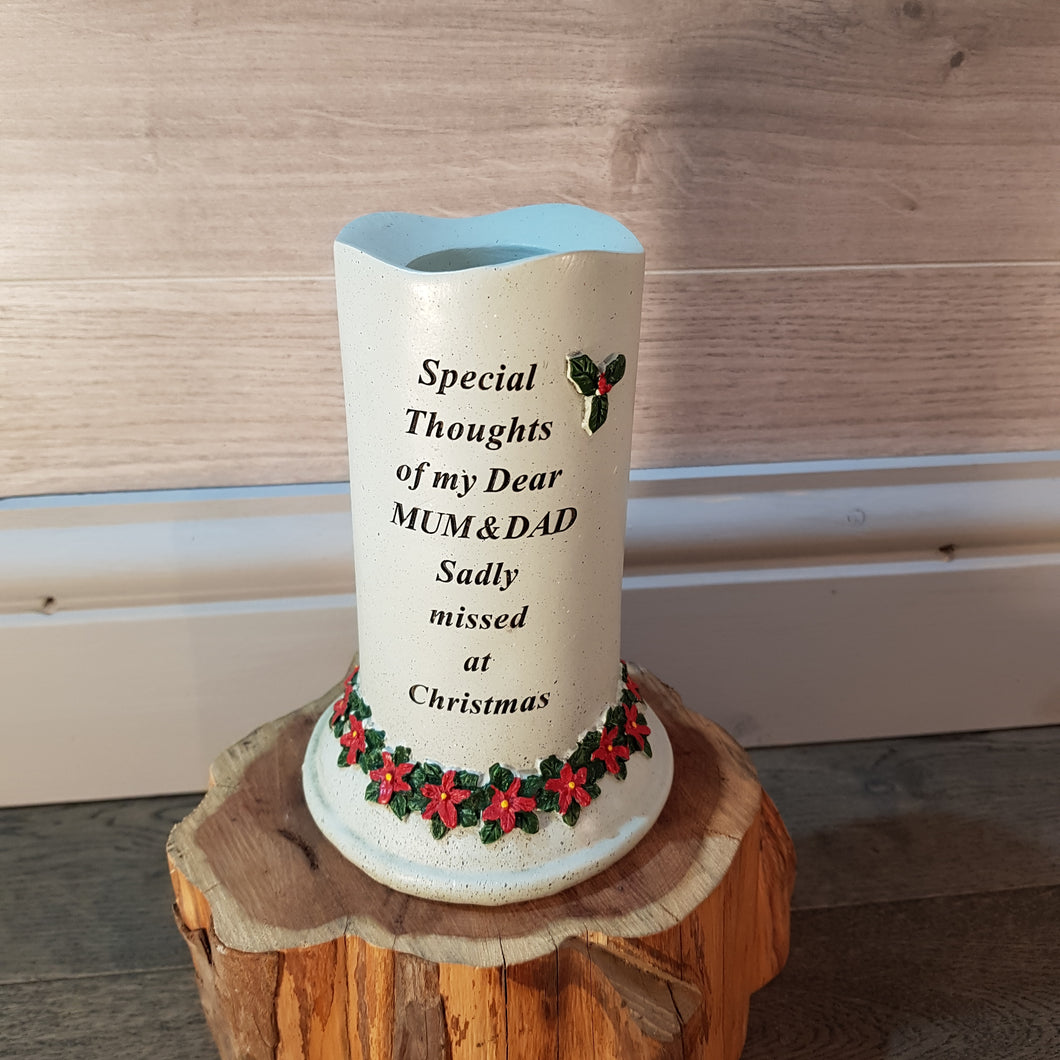 Memorial Poinsettia Candle with Tealight Holder