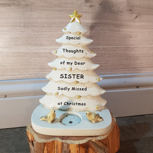 Memorial Christmas Tree with Robin's & Tealight Holder