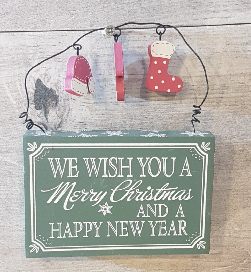 We wish you a Merry Christmas and a Happy New Year plaque