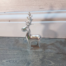 Load image into Gallery viewer, Small Silver Ceramic Reindeer 15cm