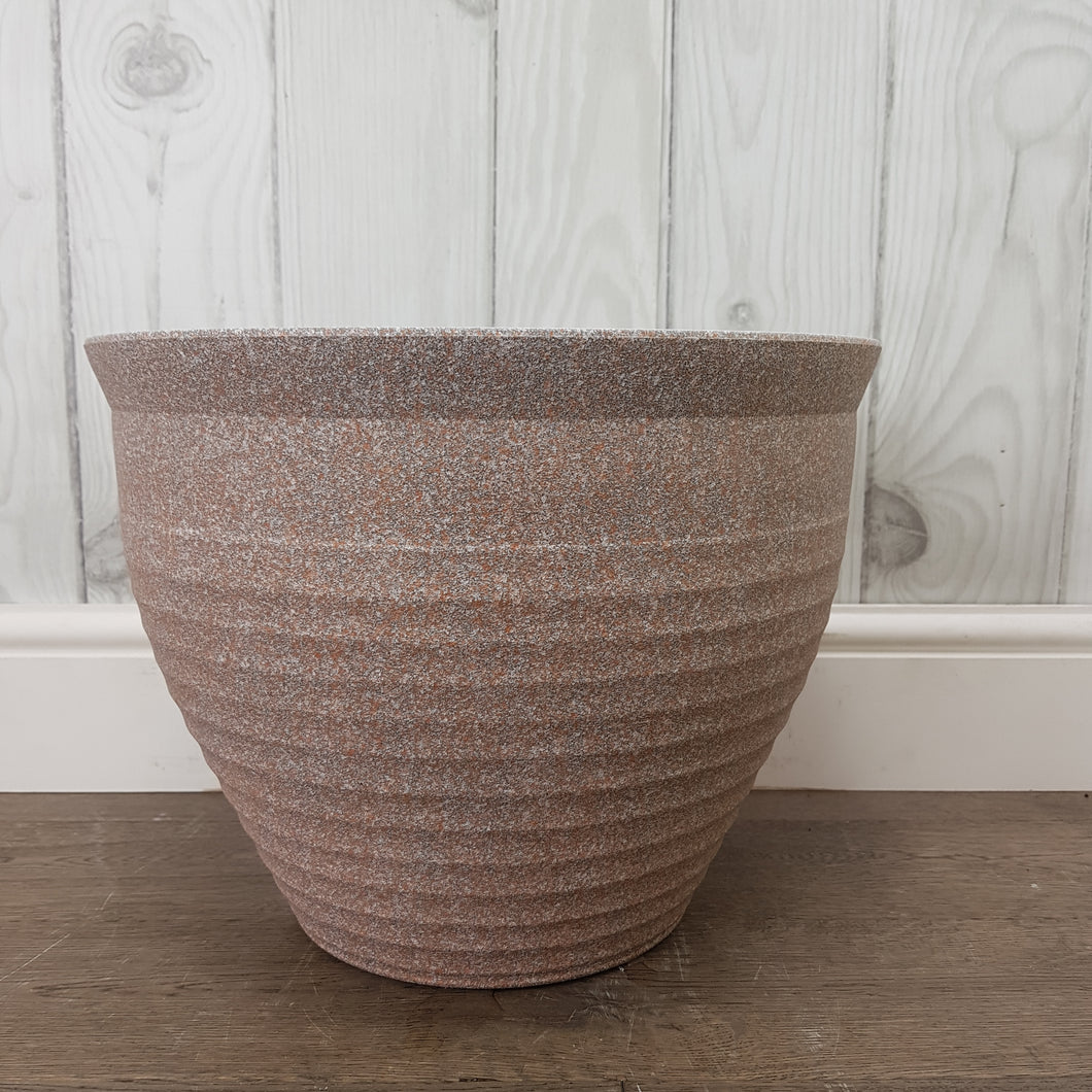 Stone Effect Feather Pot Pink