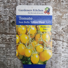 Load image into Gallery viewer, Tomato 'Sun Belle Yellow Plum' 9cm Pot
