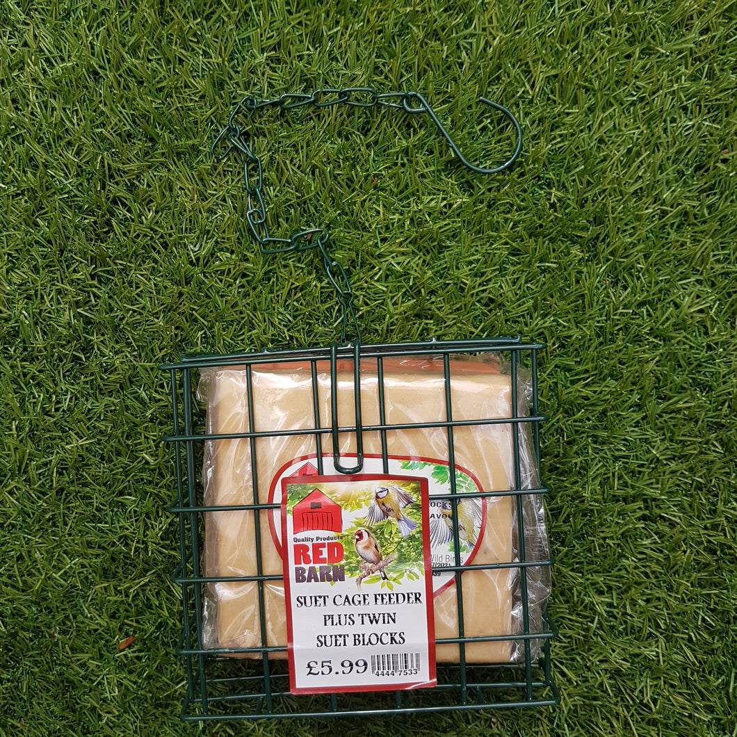 Suet Cage with Twin Blocks