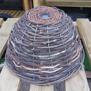 "12"" Hanging Basket Round 'Brown Wicker'"