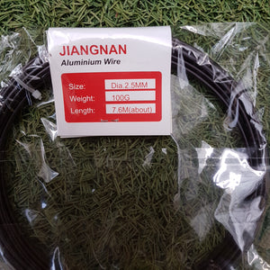 Jiangnan Aluminium Bonsai Wire 7.6m L, 2.5mm Dia