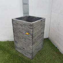 Load image into Gallery viewer, Driftwood Tall Square Planter 25cm x 38cm £32.99