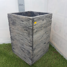 Load image into Gallery viewer, Driftwood Tall Square Planter 31cm x 44cm £36.99