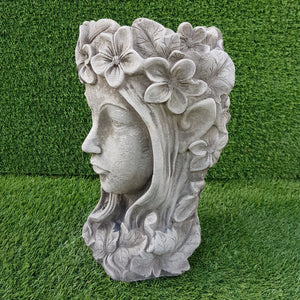 Elf Queen Planter Antique Grey