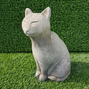 Sitting Cat Small Antique Grey