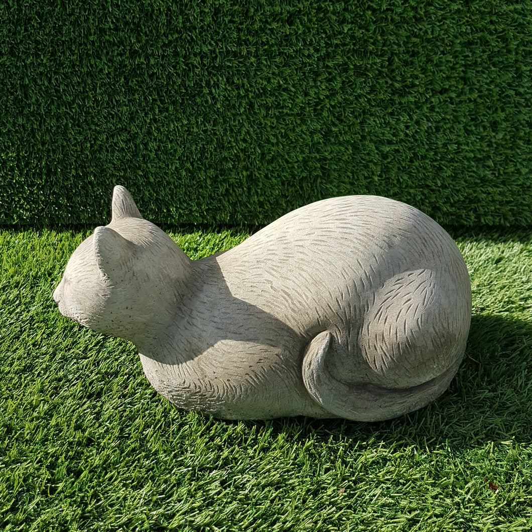 Crouching Cat Small Antique  Grey