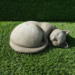 Sleeping Cat Small Antique Grey