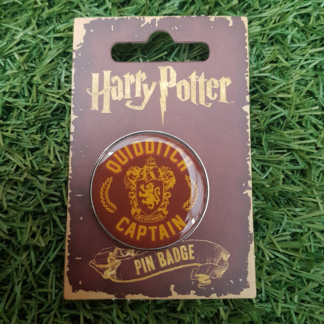 Harry Potter 'Quidditch Captain' Pin Badge