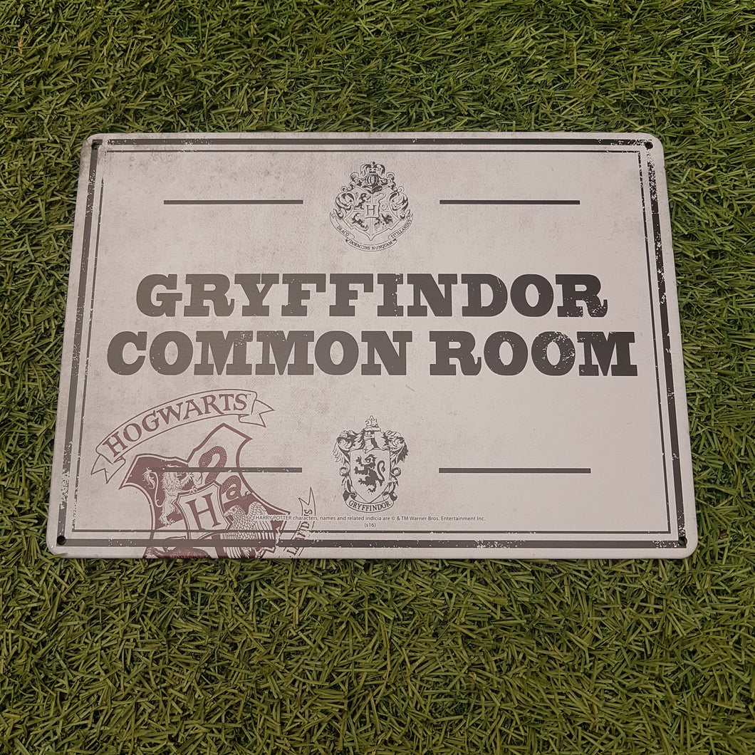 Harry Potter 'Gryffindor Common Room' Metal Wall Sign