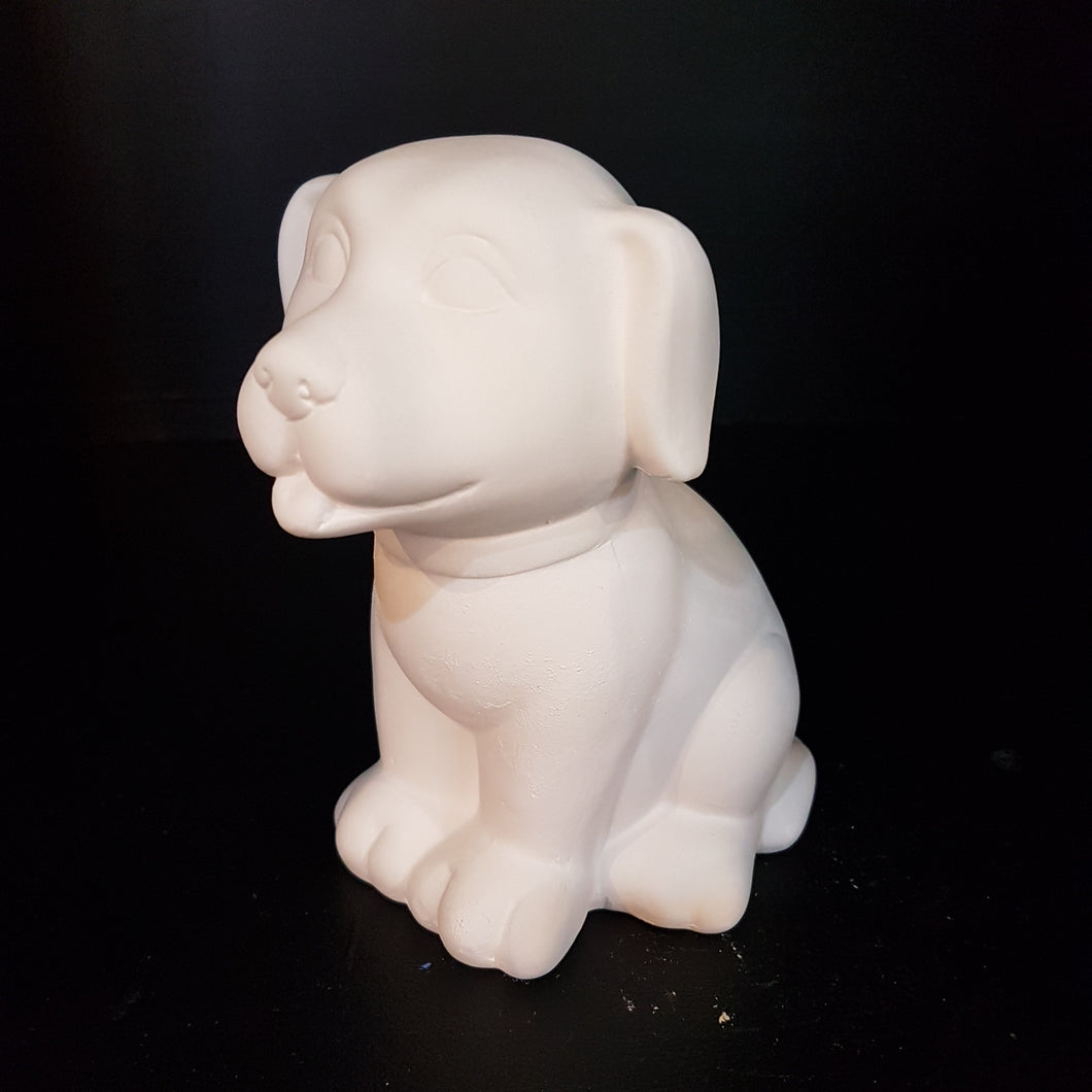 Puppy Sitting Money Box (Height 13.5cm)