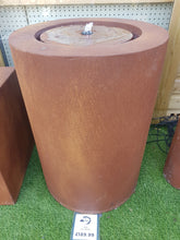 Load image into Gallery viewer, Zen Cylinder Water Feature (Rust) 50cm x 70.5cm (£189.99)