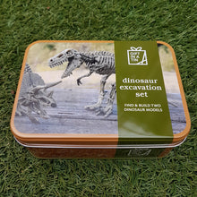 Load image into Gallery viewer, Dinosaur Excavation Set (Gift in a Tin)