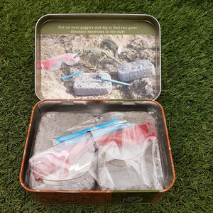 Dinosaur Excavation Set (Gift in a Tin)