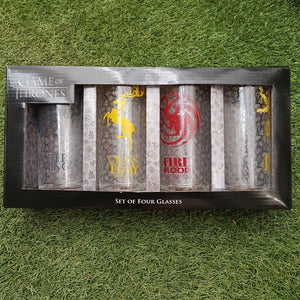 Game Of Thrones Set of 4 Glasses