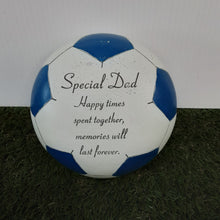 Load image into Gallery viewer, Blue Football Memorial 'Special Dad'