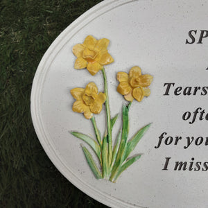 Daffodil Oval Plaque