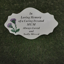 Load image into Gallery viewer, Purple Thistle Plaque