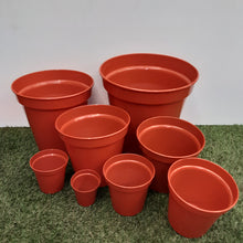 Load image into Gallery viewer, Terracotta Plastic Pots (Click to See More Sizes)