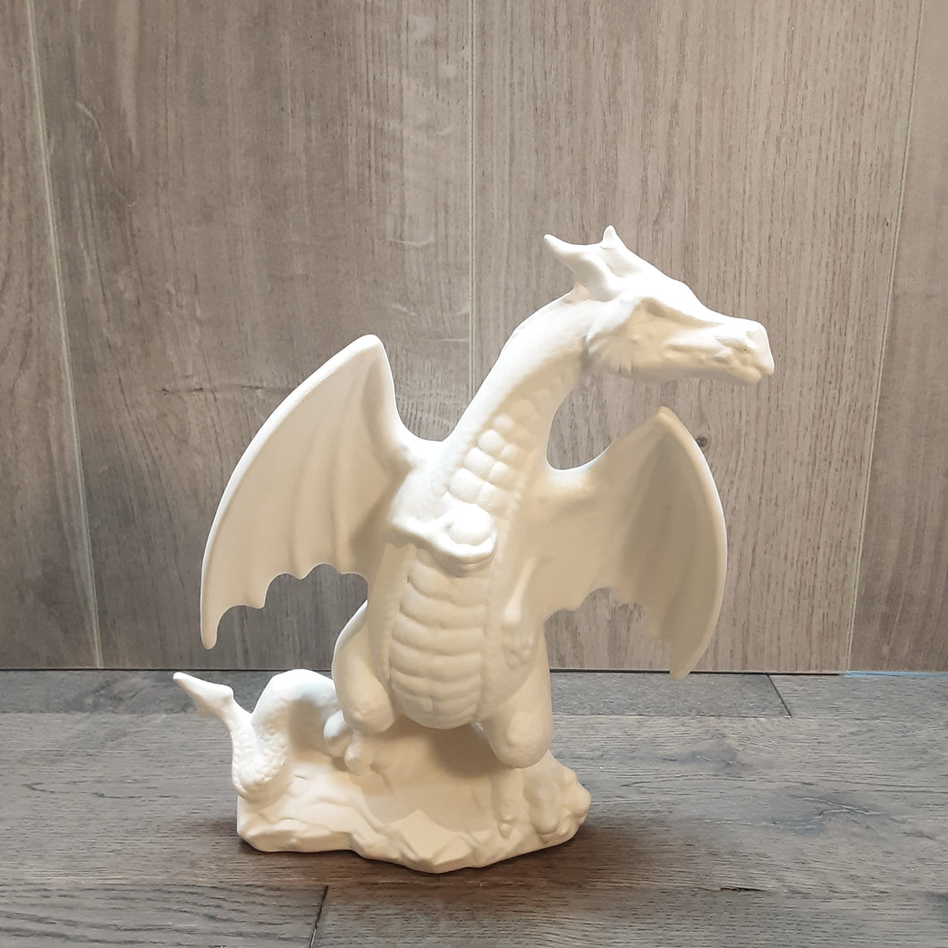 Large Dragon On A Rock (Height 23cm)