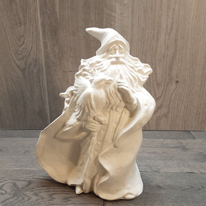 Large Wizard Holding A Stick (Height 23cm)