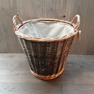 Small Brown Wicker Log Basket
