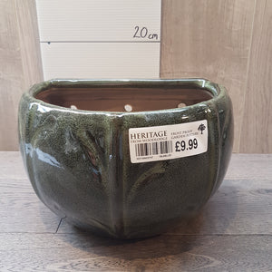 Green Blossom Wall Pot