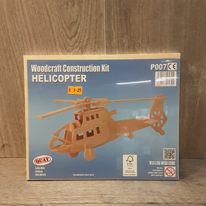 Helicopter Woodcraft Construction Kit