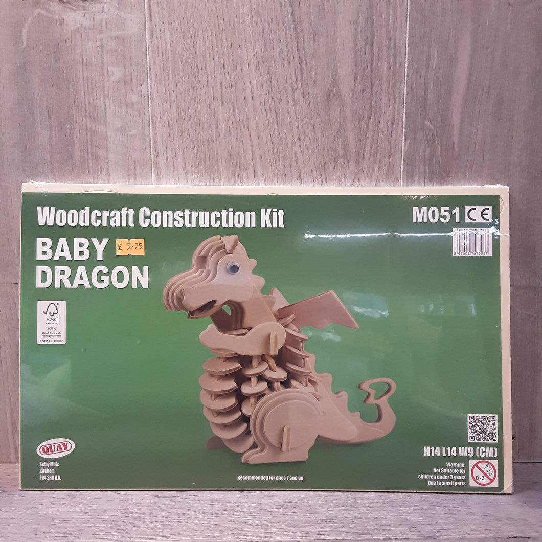 Baby Dragon Woodcraft Construction Kit