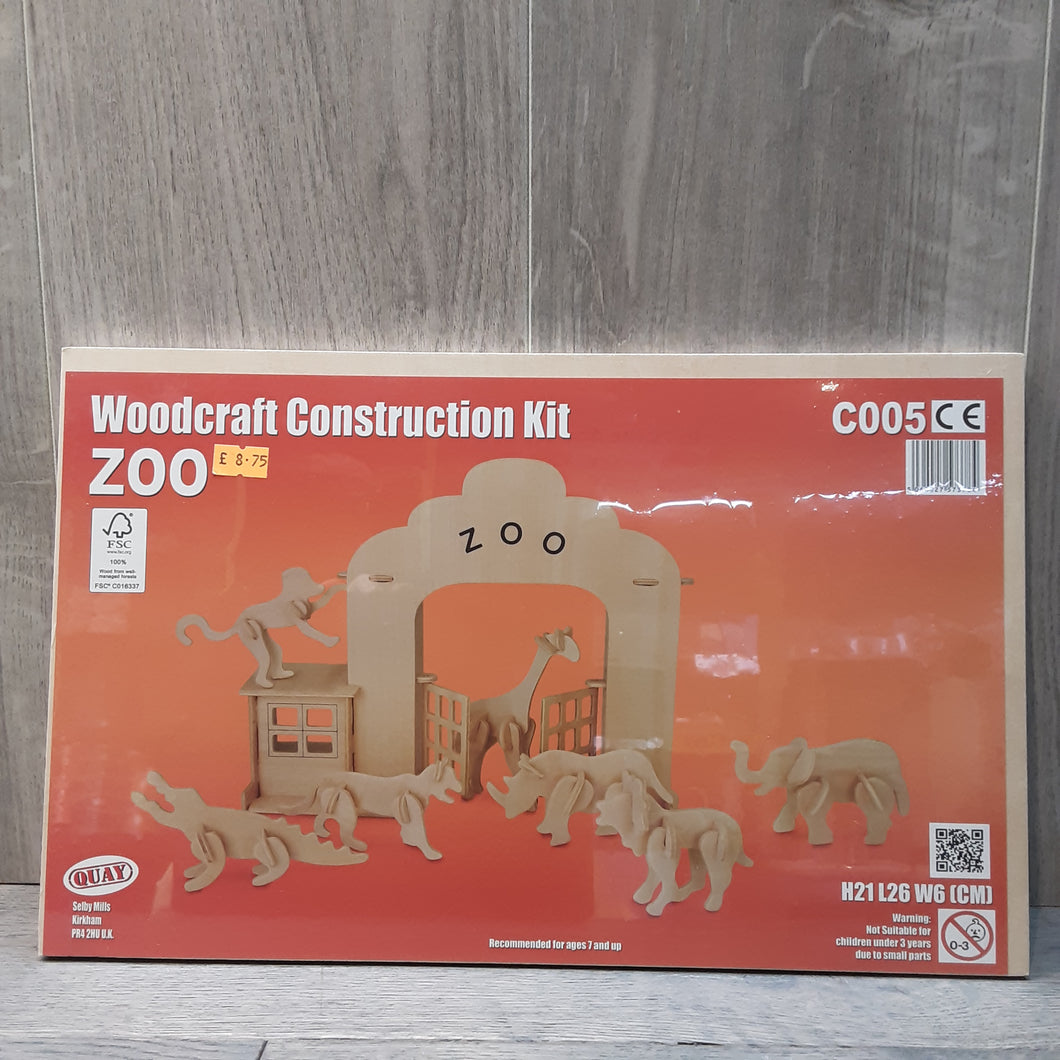Zoo Woodcraft Construction Kit