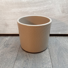 Load image into Gallery viewer, Beige Pot With Indented Dots
