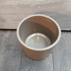 Beige Pot With Indented Dots