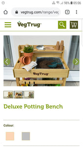 Vegtrug Deluxe Potting Bench Natural