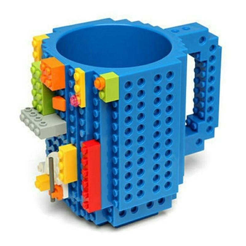 Taza Multi Usos Tipo Block Construcción Build On