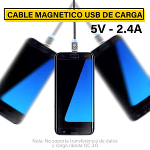 Cable USB Magnético 3 en 1 Micro USB, Tipo C, iPhone