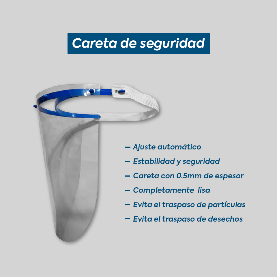 Careta Protector Facial Lavable
