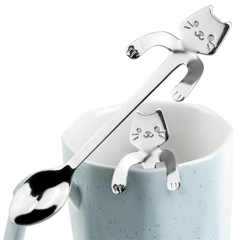 Cuchara Para Café O Té Gatito Acero Inoxidable - enjoy2shop-store