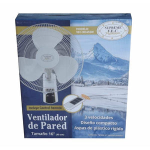 Ventilador De Pared Blanco Control Remoto - enjoy2shop-store