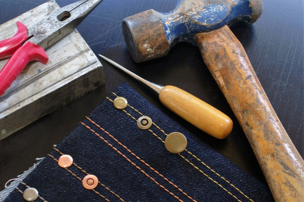 HOW TO INSTALL JEANS BUTTONS AND RIVETS