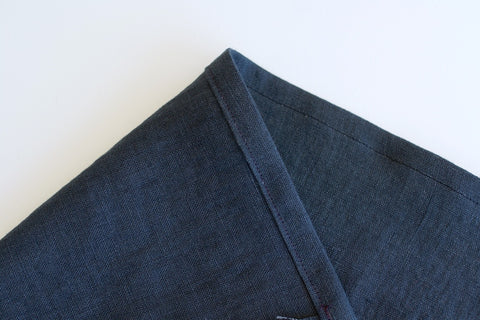 a photo showing the top edge top stitched down