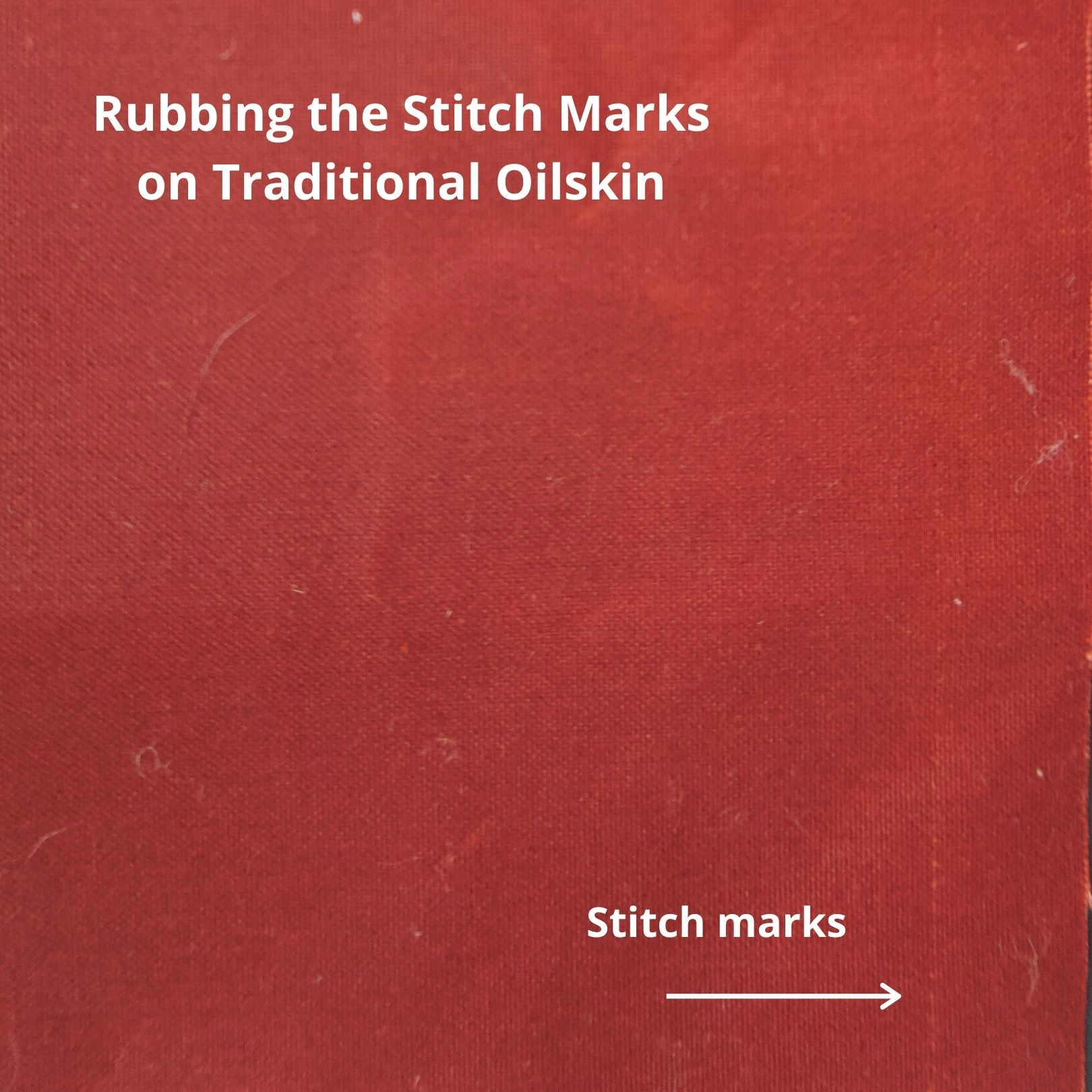 an image of some conker coloured oilskin with a line of stitching running down the right hand side