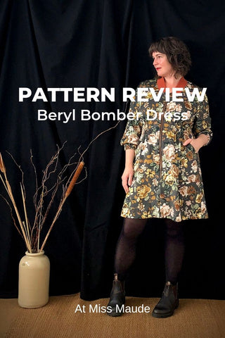pattern review beryl bomber dress